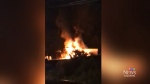 CTV Atlantic: Car-carrying transport truck fire