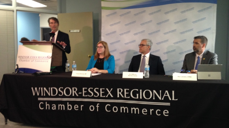 Windsor-Essex Chamber of Commerce addresses concerns with Perishable Agricultural Commodities Act in Windsor, Ont., on Tuesday, Aug. 22, 2017. (Chris Campbell / CTV Windsor)