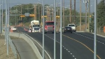 City crews are nearly finished building an upgrade to the Stoney Trail/Sarcee Trail interchange in northwest Calgary.