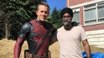 Harjit Sajjan poses with Ryan Reynolds