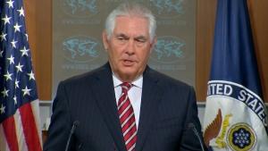 Rex Tillerson speaks at the U.S. State Dept.