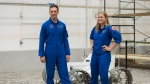 Canada's newest astronauts Jennifer Sidey and Joshua Kutryk visit the Rover room during a a tour of the Canadian Space Agency in Saint-Hubert, Que., Tuesday, July 4, 2017. (THE CANADIAN PRESS/Graham Hughes)
