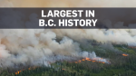 Largest recorded wildfire in B.C. history