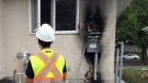 The scene of the ninth power meter fire in Regina on Aug. 22. (CALLY STEPHANOW/CTV REGINA)