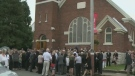 Murray remembered at private service