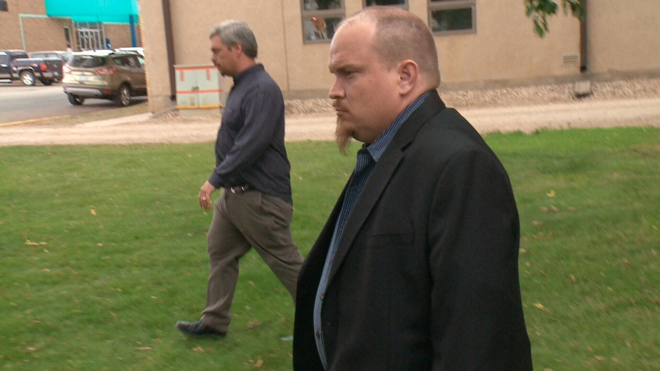 Normand Lavoie leaves Melfort Queen's Bench Court on Tuesday Aug. 22, 2017. (Dale Cooper/CTV Saskatoon)