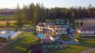 """Looking to downsize, owners of a 13,000-square-foot mansion hope to sell their home and the 72-acre lot it sits on for $26 million.  <br> The three-storey home, which realtors describe as """"an old world Tuscan vineyard estate,"""" includes eight bedrooms, an elevator, a movie theatre, bar, wine cellar and catering kitchen. Outside, the property features a vineyard, pool and hot tub, massive patio, pond and two lakes. (Sutton Realty)"""