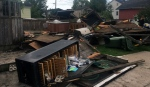 Everything in Lorraine Girard's Lachute backyard was torn apart by Tuesday's storm (Emily Campbell)
