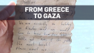 Message in a bottle goes from Greece to Gaza