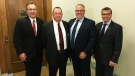 Scott Livingstone, third from the left, has been named CEO of the new provincial health board. (WAYNE MANTYKA/CTV REGINA)
