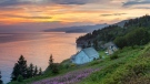 This undated photo provided by Quebec Maritime shows a scene from the Gaspe Peninsula in Quebec, Canada. (Mathieu Dupuis/Québec Maritime via AP)