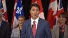 PM Trudeau speaks on asylum seekers in Montreal