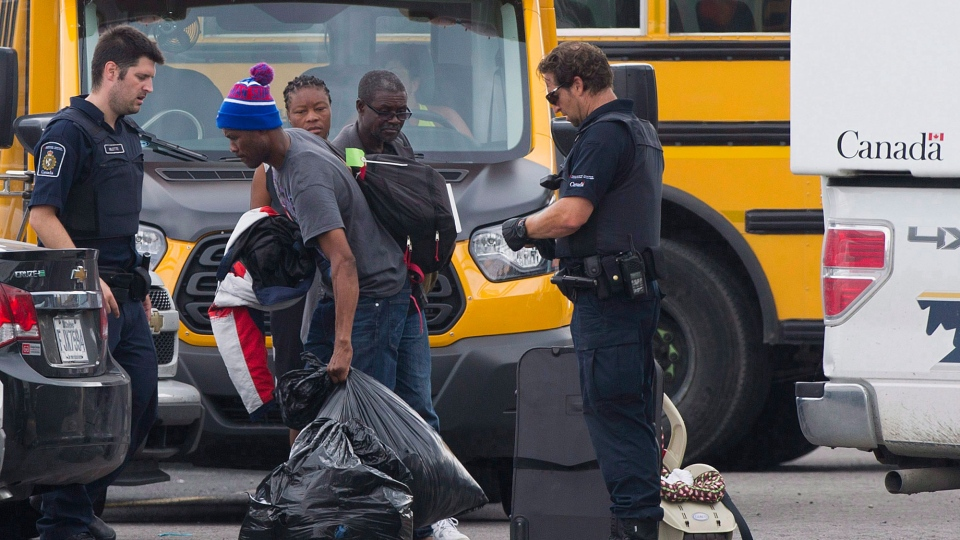 An asylum seeker from Haiti is seen in Quebec in this undated file photo.