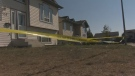 RCMP taped off a home in Blackfalds on Wednesday, August 23, following a home invasion that left a man in his 40s injured on Tuesday, August 22.