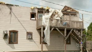 Hundreds of homes damaged after tornado