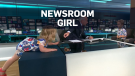 Little girl hops around during anchor's interview