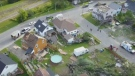 Aerial view of Lachute wreckage