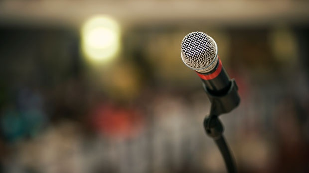 A file photo image of a microphone. (Wikimedia Commons)