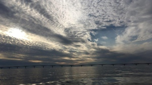 Pam Spicer spotted this unusual cloud over the Northumberland Strait last weekend.  Find out where the piece went...