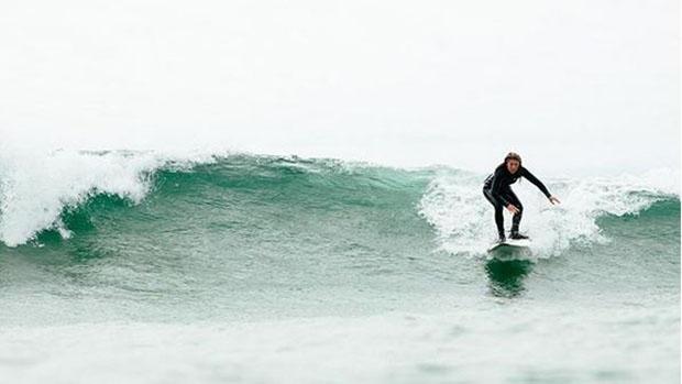 Sophie Gregoire Trudeau surfing in Tofino