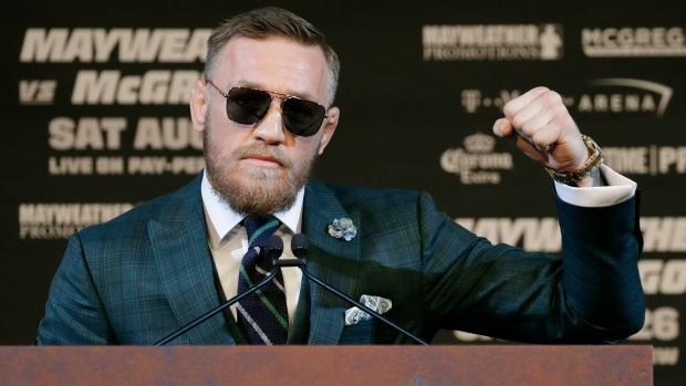 Conor McGregor in Las Vegas in 2017