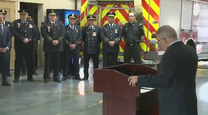 Public Safety and Emergency Preparedness Minister Ralph Goodale announces National Firefighters Memorial Day in Regina on Aug. 25, 2017