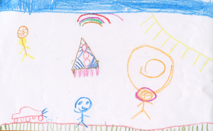 Weather art by Cyrus, age 7, from David Lloyd George Elementary.