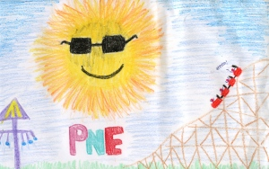 Weather art by Natasha, age 15, from St. Thomas Moore Collegiate.