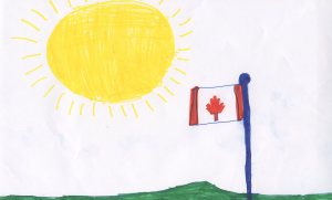 Weather art by Manav, age 8, from Serpentine Heights.