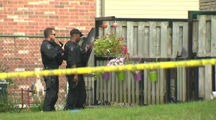 Police responded to an altercation between two males on Mooregate Crescent in Kitchener, one of them was arrested while the other was sent to hospital with serious injuries. (CTV Kitchener)