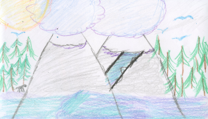 Weather art by Amanda, age 10.