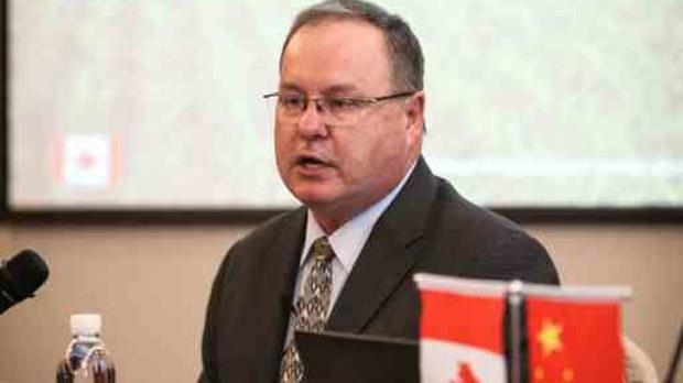 Saskatchewan Party MLA Bill Boyd speaks during a March 2017 business trip in China. (SASKEY.COM)