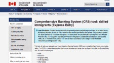 Snapshot of Immigration Canada's ranking system