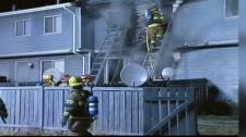 Calgary firefighters battle