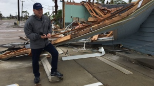 CTV's Todd Battis reports on Hurricane Harvey from Rockport, Texas, on Monday, August 28, 2017.