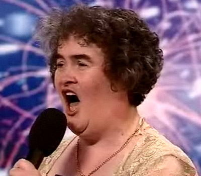 Susan Boyle, an unemployed 48-year-old who wowed judges and audience alike last Saturday when she appeared on the program 'Britain's Got Talent.'(Photo courtesy of talent.itv.com)