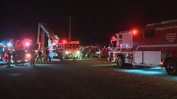 Firefighters have put out a massive fire at a recycling facility in southeast Calgary on Tuesday morning.