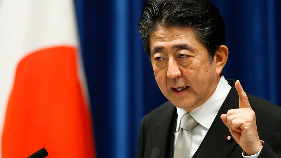 Japanese Prime Minister Shinzo Abe speaks during a news conference in Tokyo, Aug. 3, 2017. (AP / Shizuo Kambayashi)