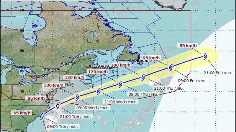 Large storm to remain offshore of Atlantic Canada, three-metre swells expected