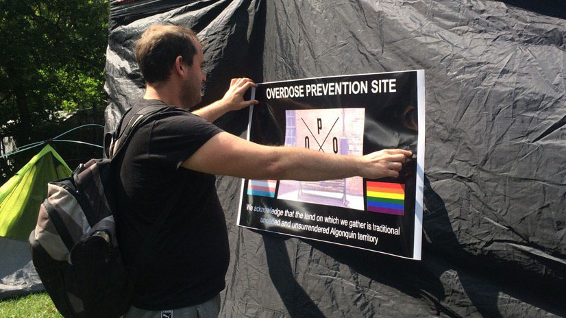 An overdose prevention tent opened in Lowertown on Friday, Aug. 25, 2017. (Megan Shaw/CTV)