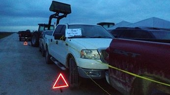 Water Wells First blockade in at Bush Line in Chatham-Kent, Ont. (Courtesy Yvonne Profota )