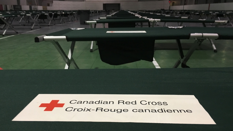 An evacuation centre has been set up at the Henk Ruys Soccer Centre in Saskatoon on Aug 29, 2017. (Chad Hills/CTV Saskatoon)