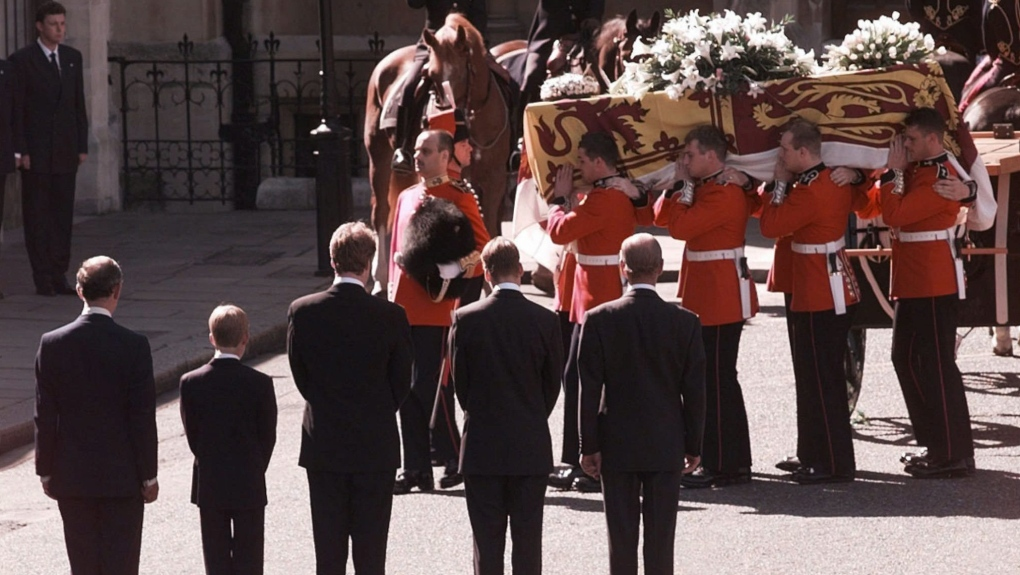 From Ap S Archives A Sea Of Tears For Diana S Funeral Ctv News