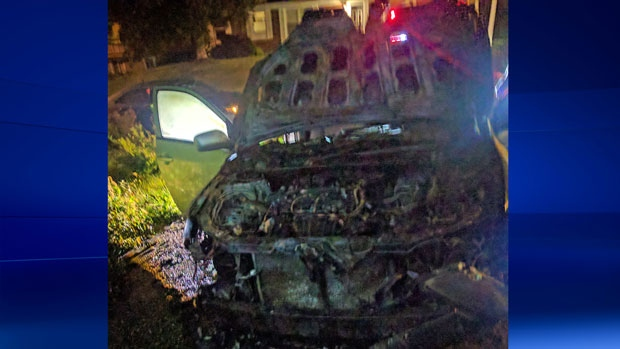 Mosque president's auto deliberately set ablaze in Canada's Quebec