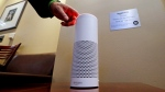 In this May 17, 2017, file photo, an Amazon Alexa device is switched on for a demonstration of its use in a ballpark suite before a Seattle Mariners baseball game in Seattle. (Elaine Thompson/AP)