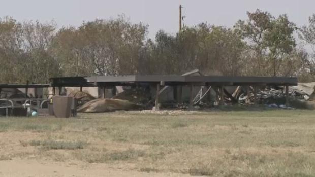 House fire near Yellow Grass