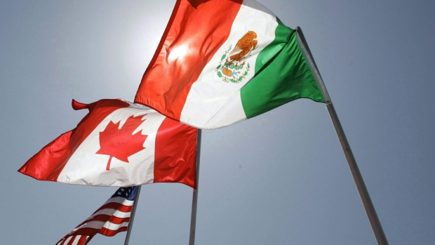 NAFTA flags