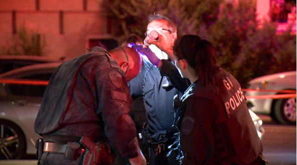 All eight of the police officers were treated for smoke inhalation, and four were sent to hospital for close monitoring. The 18-month old child pulled from the building is expected to survive. (Cosmo Santamaria/CTV Montreal)