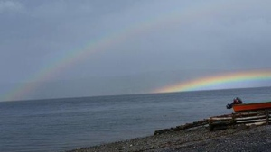 Wanda Murrin snapped this unusually low rainbow in Corner Brook NL
