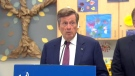 Tory speaks at the opening of a new city-owned daycare in Scarborough on August 31, 2017.